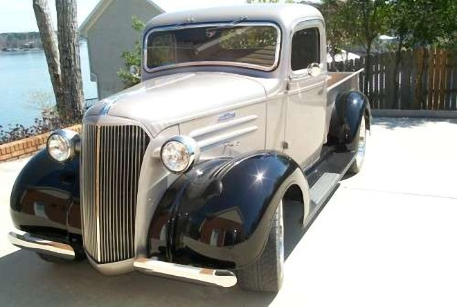 Front Left 1937 Chevrolet Pickup Truck Picture