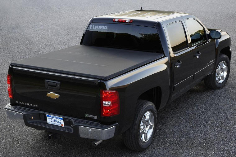 Rear Right 2009 Chevrolet Silverado Hybrid Truck Picture