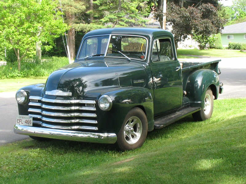 Front Left Green 1951 Chevrolet 3100 Pickup Truck Picture 51 chevy 3100