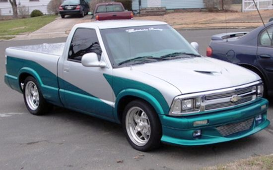 1995 chevrolet s10 white and green truck photo chevy truck photos. Black Bedroom Furniture Sets. Home Design Ideas
