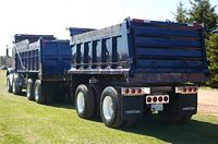 Rear Left Blue 1992 Freightliner Tandem Truck Picture
