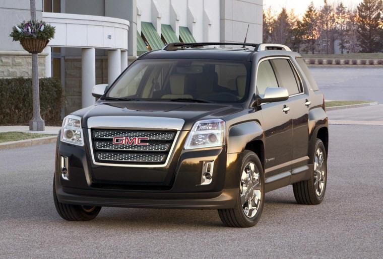 Front Left Black 2010 GMC Terrain SUV Picture