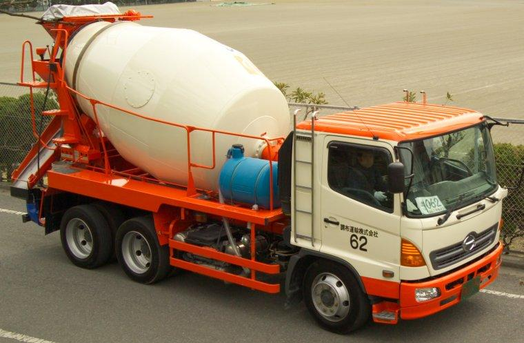Orange Cement Mixer 2006 Hino Cement Mixer