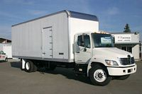 Front Right White 2008 Hino 268 Truck Picture