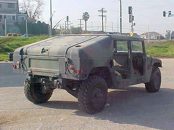 Right Rear 1990 Hummer MV Truck Picture