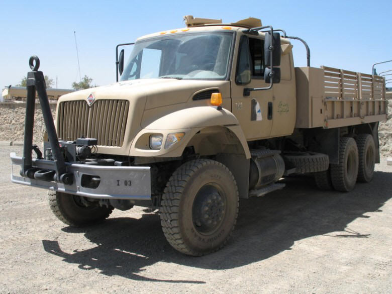 Front Left International Navistar Army Truck Picture