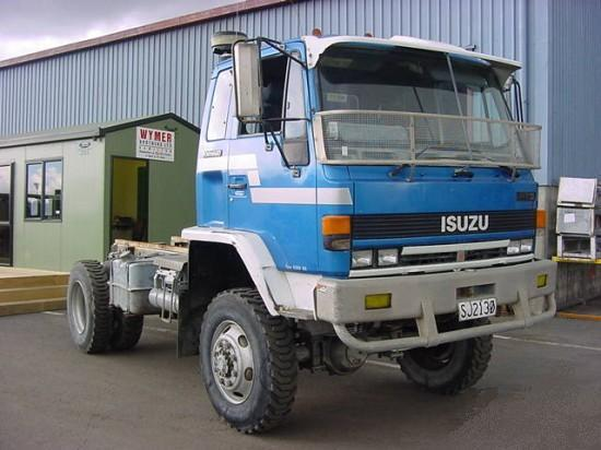 Front Right Blue 1993 Isuzu FTS Truck Picture