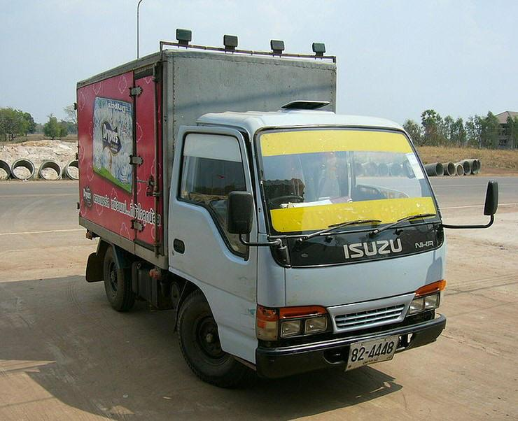 Front Right Isuzu NHR Delivery Truck