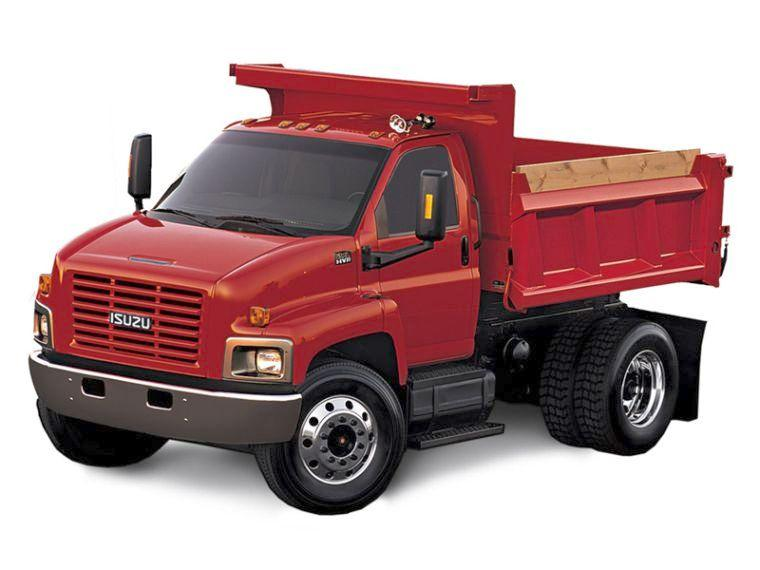 Front Left Red 2006 Isuzu H Series Dump Truck Picture