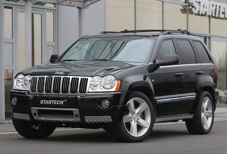 front left black 2005 jeep startech grand cherokee suv picture. Black Bedroom Furniture Sets. Home Design Ideas