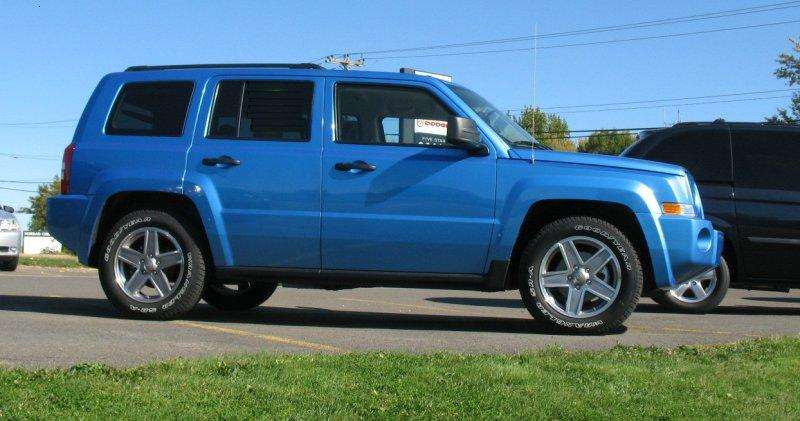 Right Side Blue 2008 Jeep Patriot North Truck Picture