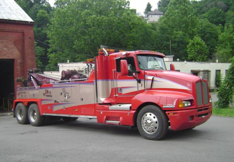 right side 1997 kenworth t600 tow truck picture