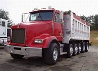 Front Left Red 1994 Kenworth T450B Truck Picture