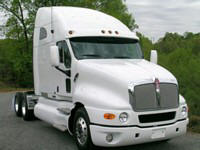 Front Right White 2010 Kenworth T2120 Truck Picture