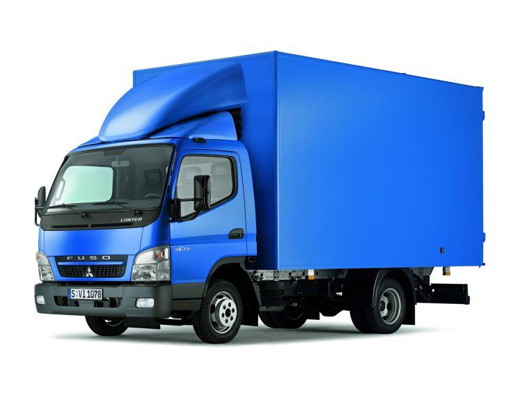 Front Left Blue 2010 Mitsubishi Fuso Truck Picture