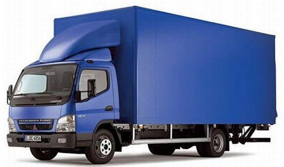 Front Left Blue 2005 Mitsubishi Canter Truck Picture