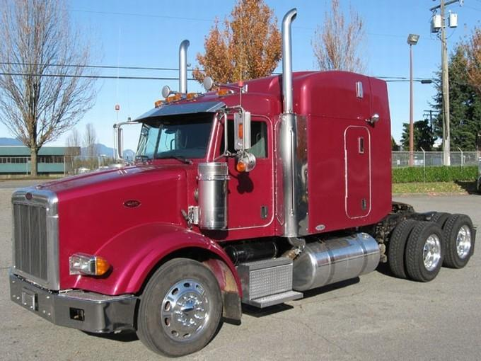 Front Left Red 2005 Peterbilt 378 Truck Picture
