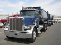 Front Left Blue 1994 Peterbilt 379 Truck Picture