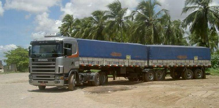 Scania 124 Road Train Truck Picture
