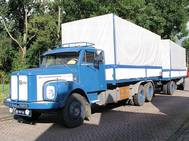 Front left blue and white 1964 Scania LS76 Truck Picture