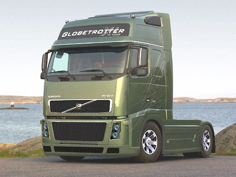 Front Left Green 2006 Volvo FH16 Truck Picture